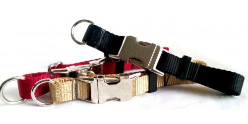 Collier ajustable de luxe avec boucle de métal 3/4''
